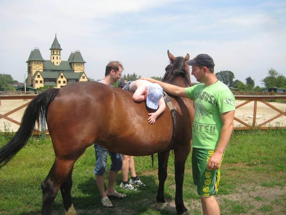 Horse&child